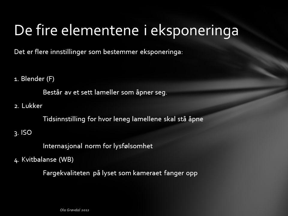 De fire elementene i eksponeringa