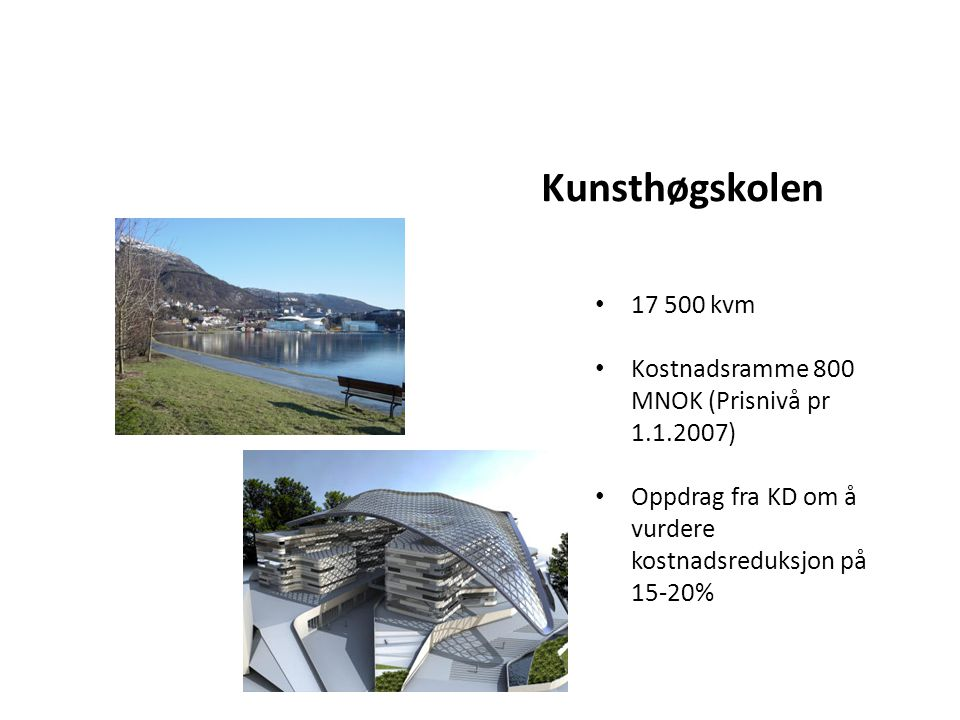 Kunsthøgskolen 17 500 kvm.