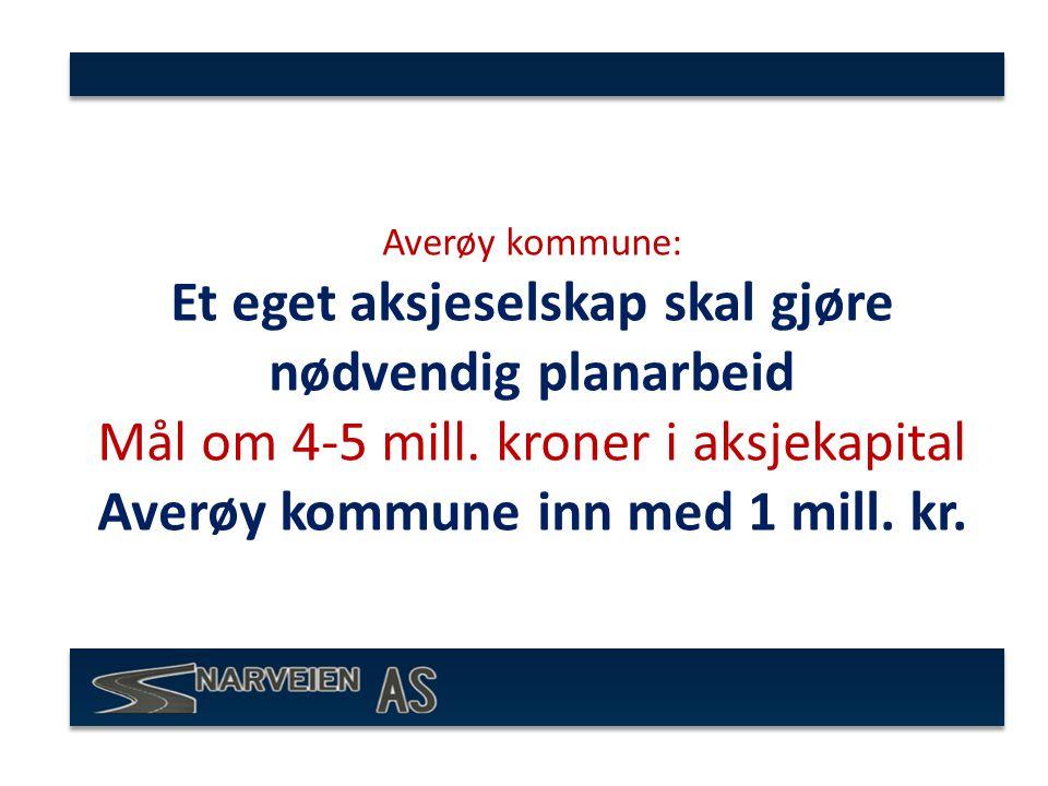 Averøy kommune: Et eget aksjeselskap skal gjøre nødvendig planarbeid Mål om 4-5 mill.