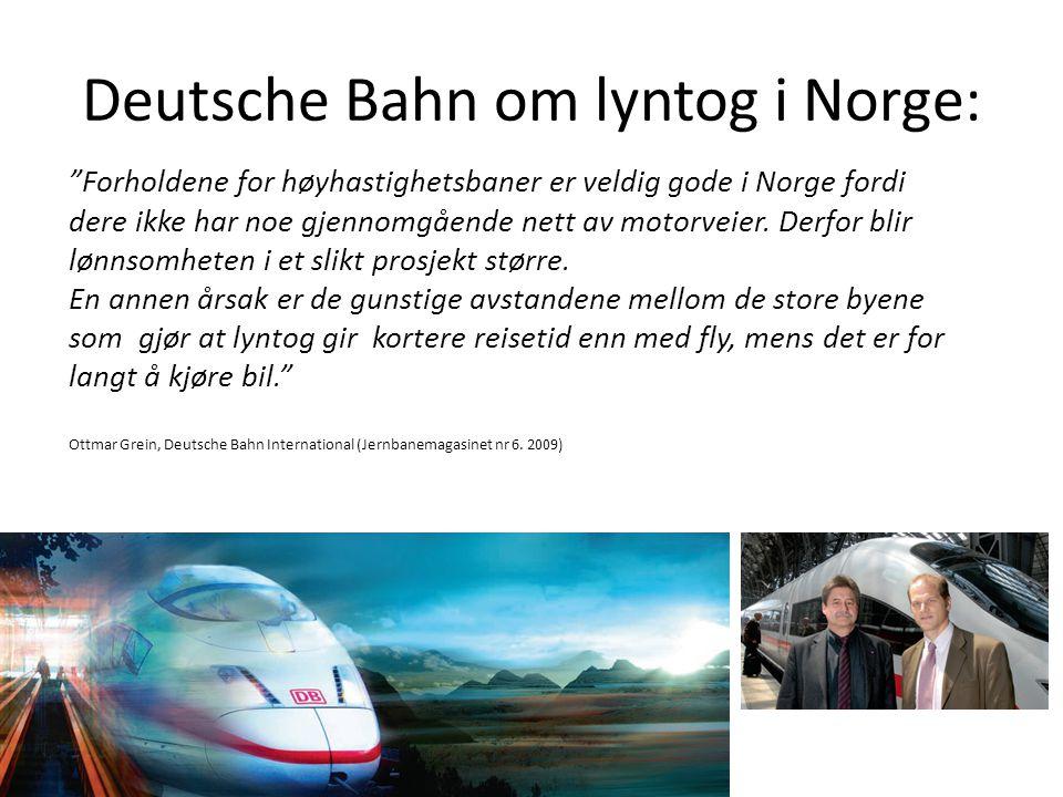 Deutsche Bahn om lyntog i Norge: