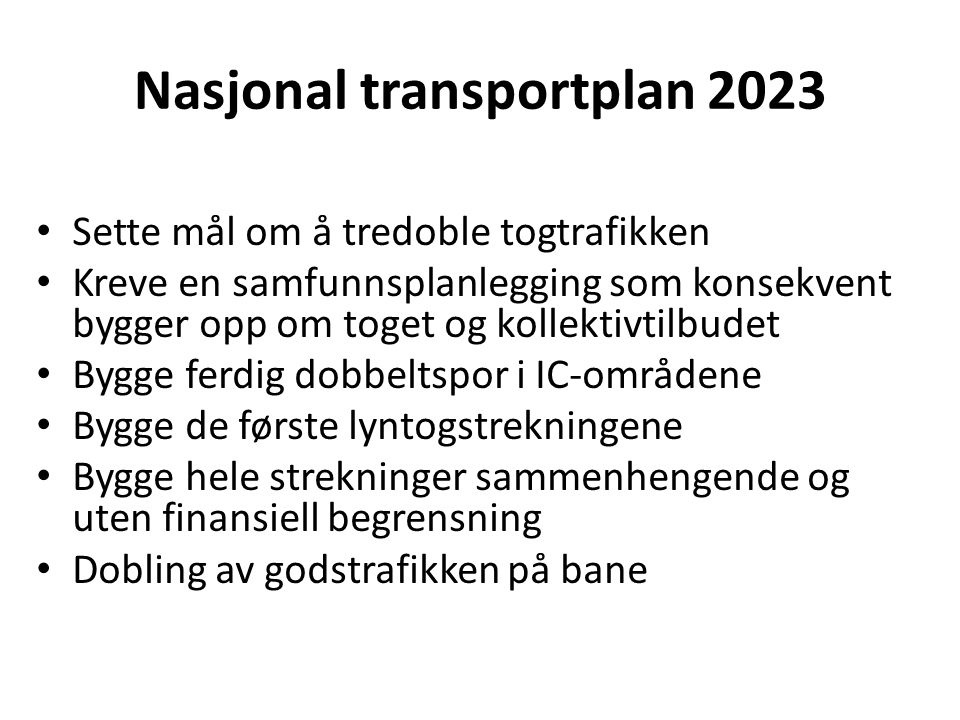 Nasjonal transportplan 2023