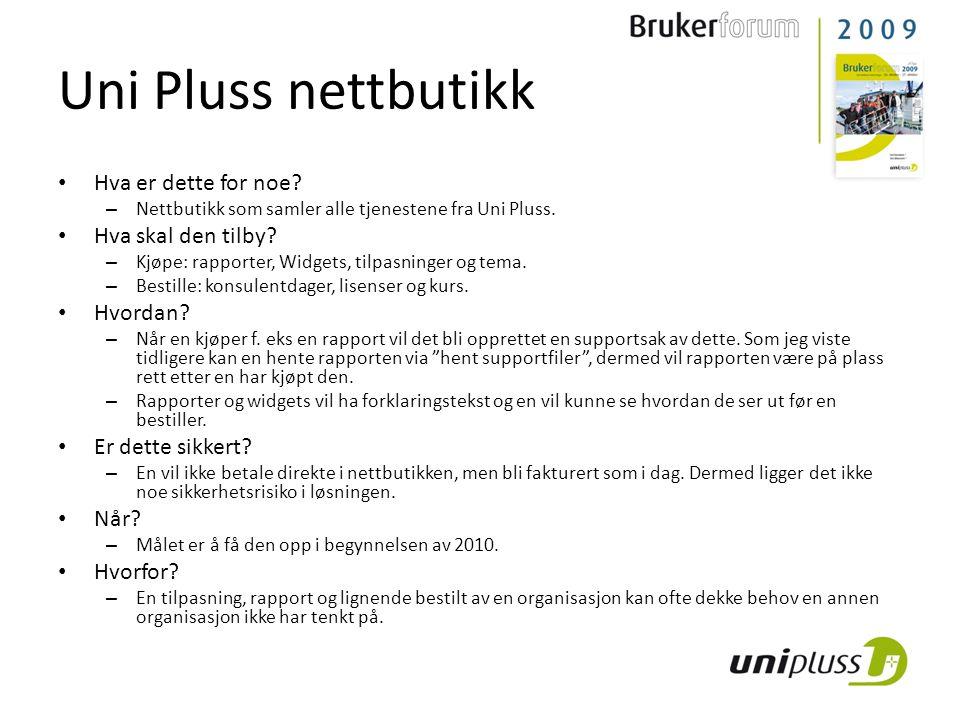 Uni Pluss nettbutikk Hva er dette for noe Hva skal den tilby