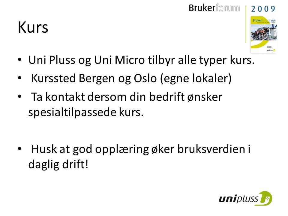 Kurs Uni Pluss og Uni Micro tilbyr alle typer kurs.