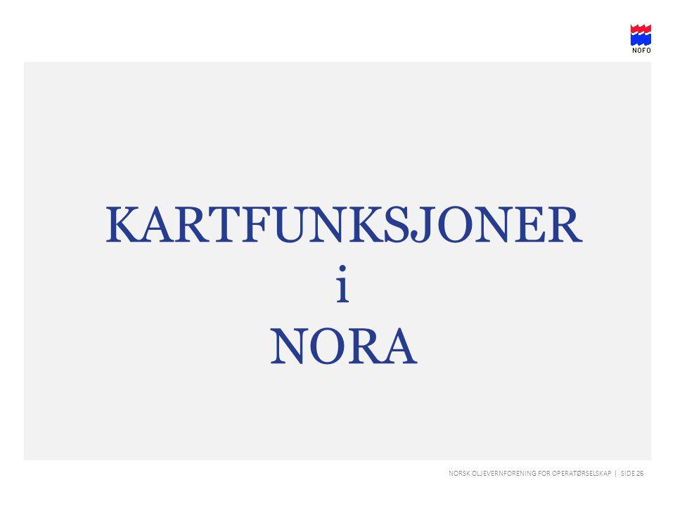 KARTFUNKSJONER i NORA