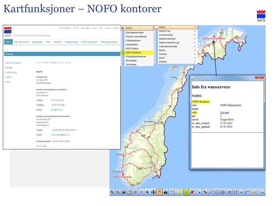 Kartfunksjoner – NOFO kontorer