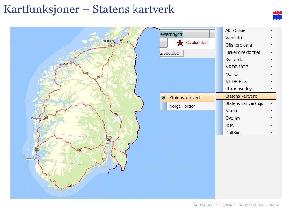 Kartfunksjoner – Statens kartverk
