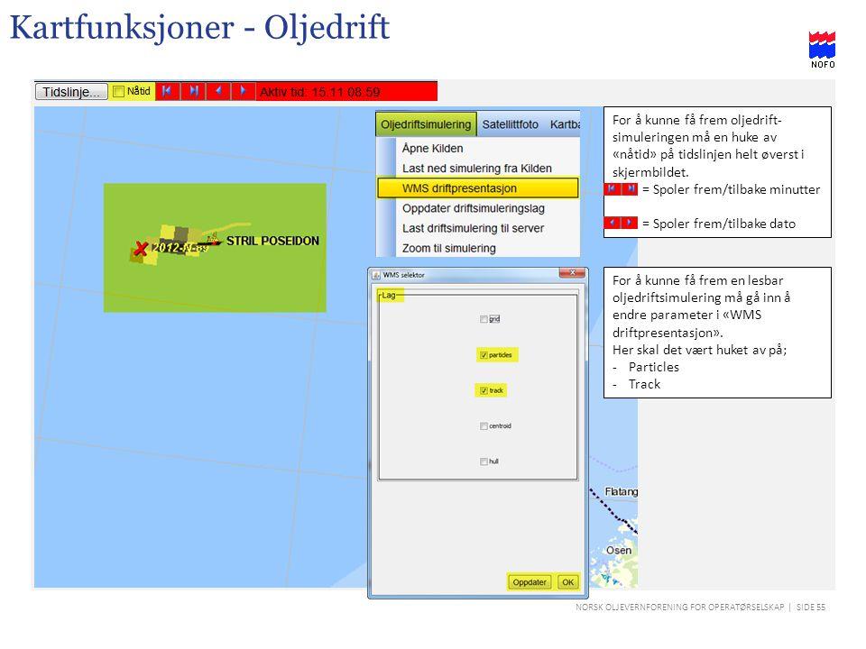 Kartfunksjoner - Oljedrift