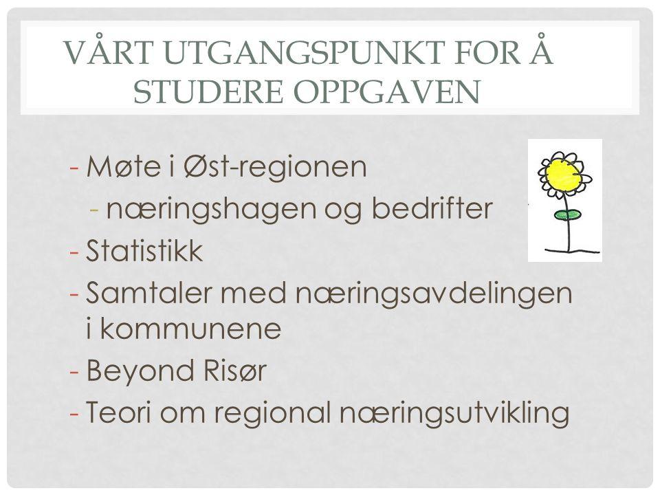 vÅRT UTGANGSPUNKT FOR Å STUDERE OPPGAVEN