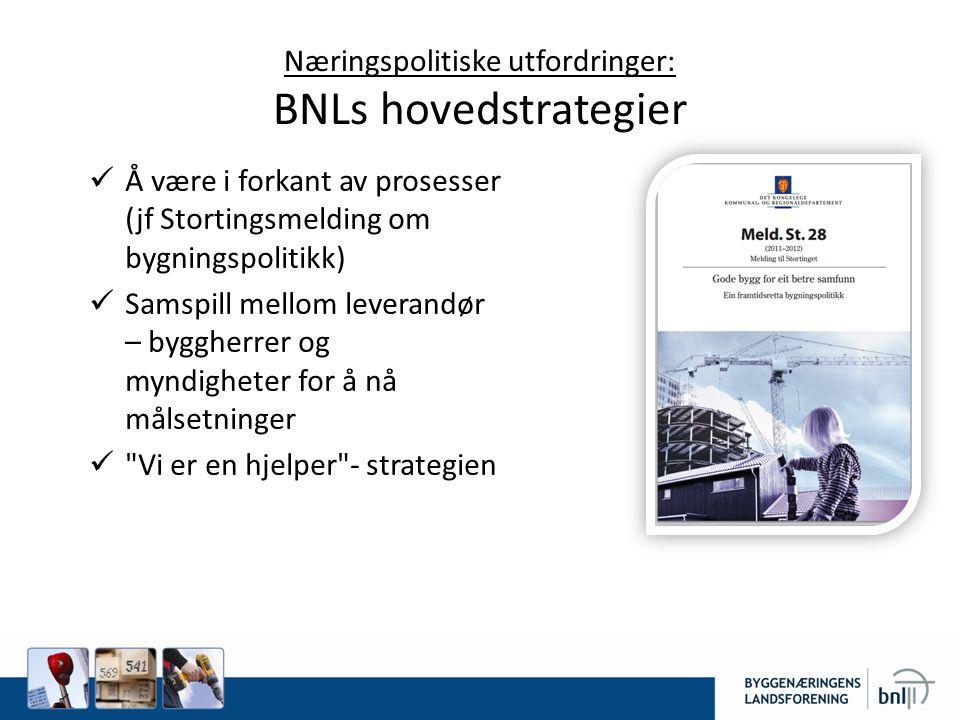Næringspolitiske utfordringer: BNLs hovedstrategier