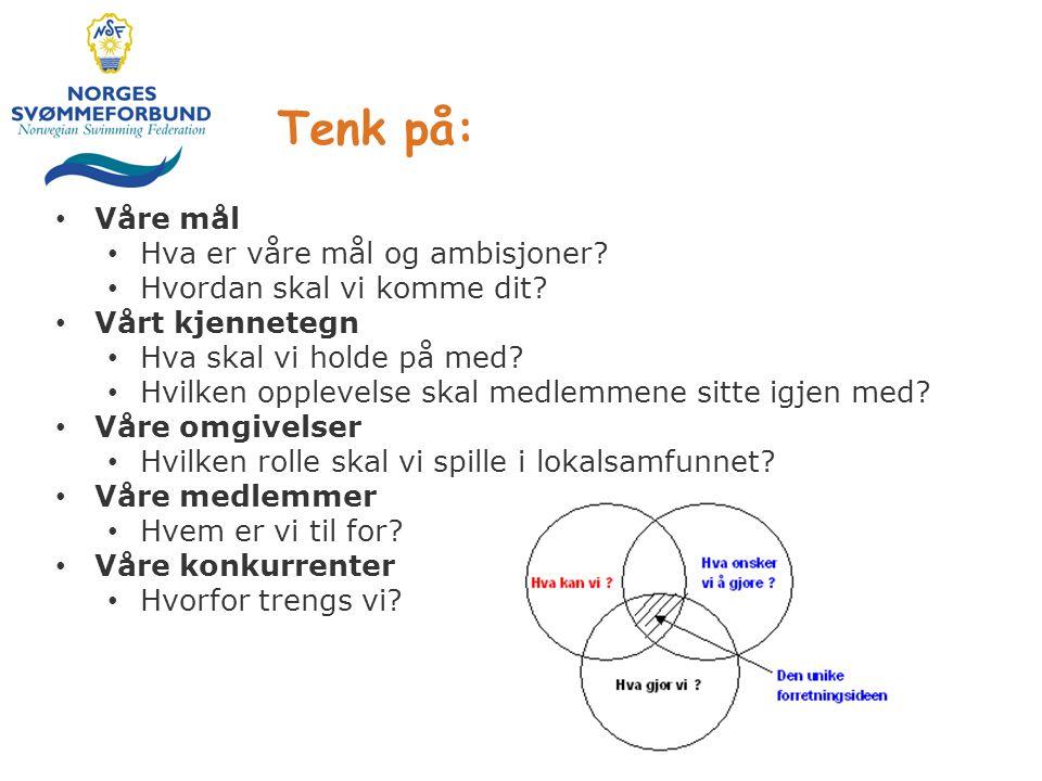 Tenk på: Våre mål Hva er våre mål og ambisjoner
