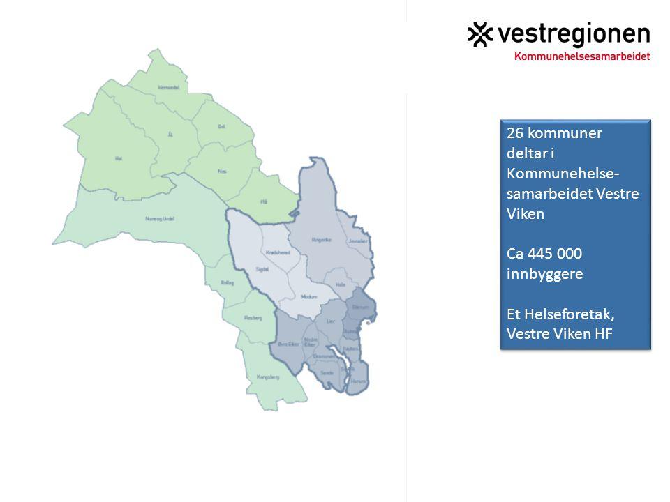 26 kommuner deltar i Kommunehelse- samarbeidet Vestre Viken