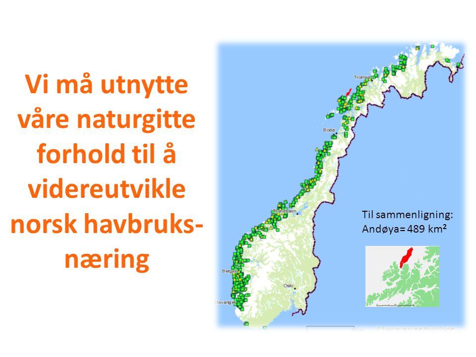 Pr. 29.11.2009 Vi må utnytte våre naturgitte forhold til å videreutvikle norsk havbruks-næring. Til sammenligning: