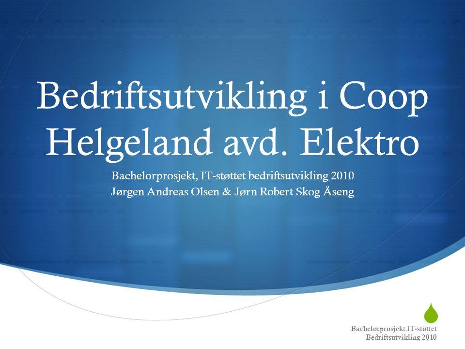 Bedriftsutvikling i Coop Helgeland avd. Elektro