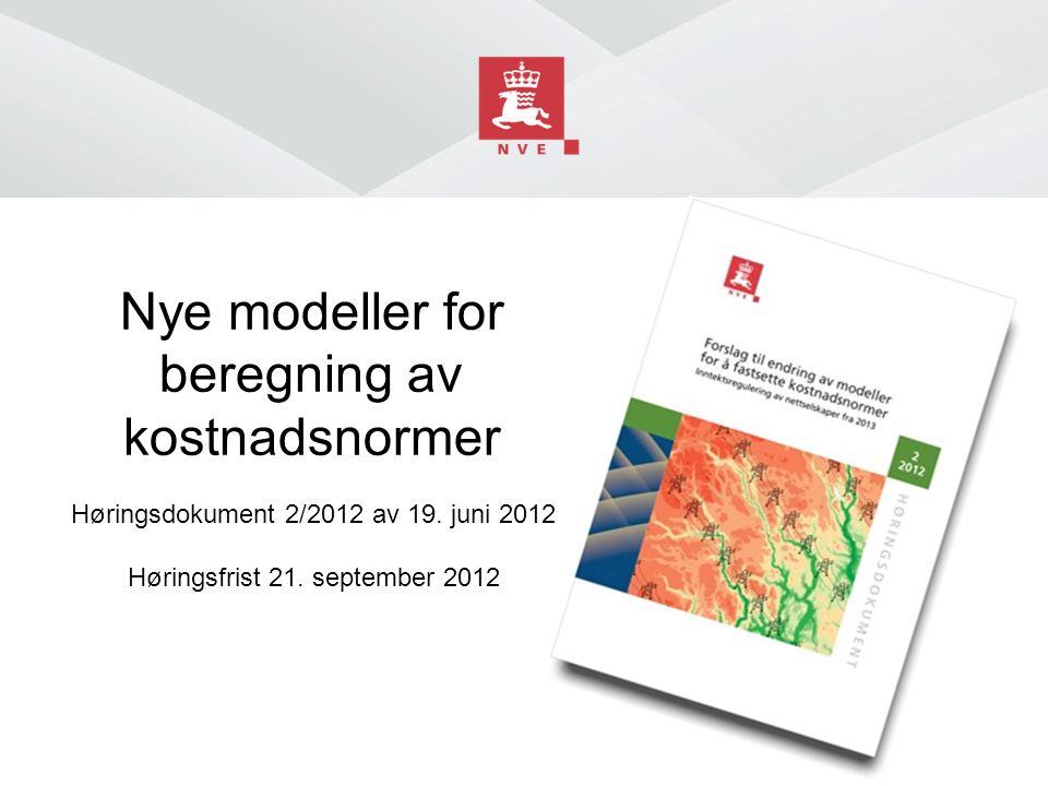 Nye modeller for beregning av kostnadsnormer