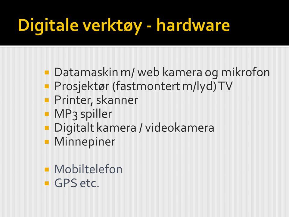 Digitale verktøy - hardware