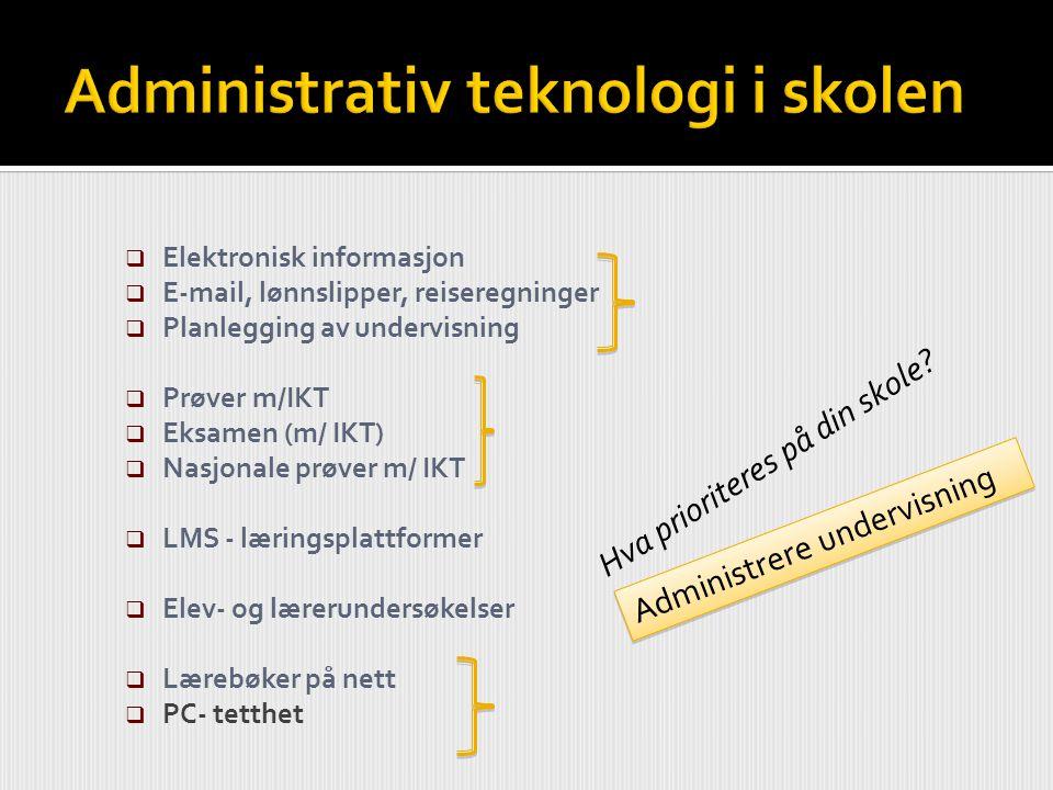 Administrativ teknologi i skolen