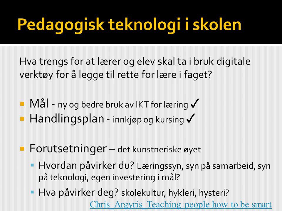 Pedagogisk teknologi i skolen