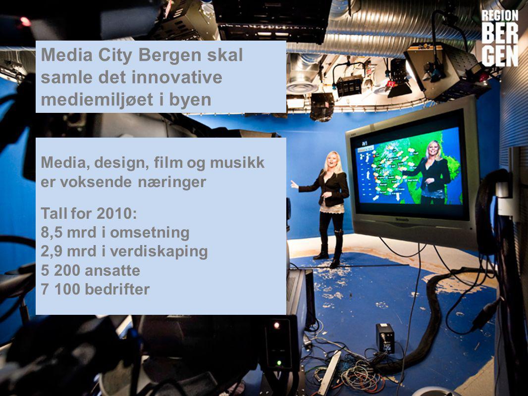 Media City Bergen skal samle det innovative mediemiljøet i byen