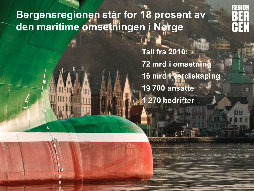 Bergensregionen står for 18 prosent av den maritime omsetningen i Norge