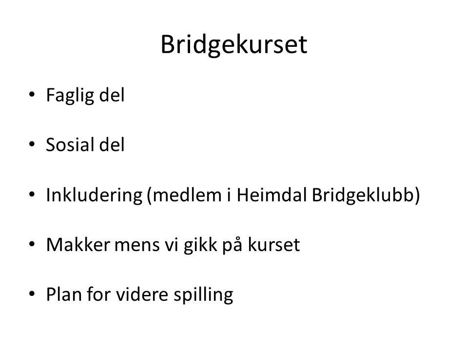 Bridgekurset Faglig del Sosial del