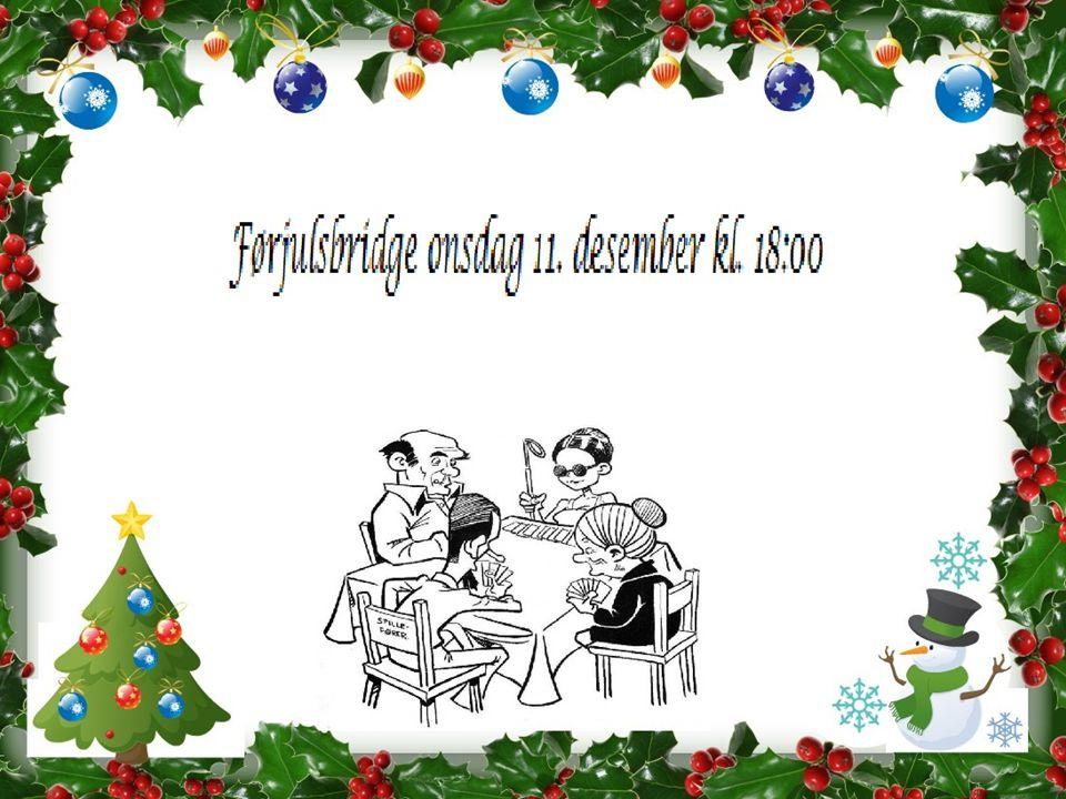 Bilde 20) Etter fadderkveldene, hadde vi enda mer lyst på bridge og inviterte damene fra kurset + Arne til julebridge med suppe, twist & kake til .