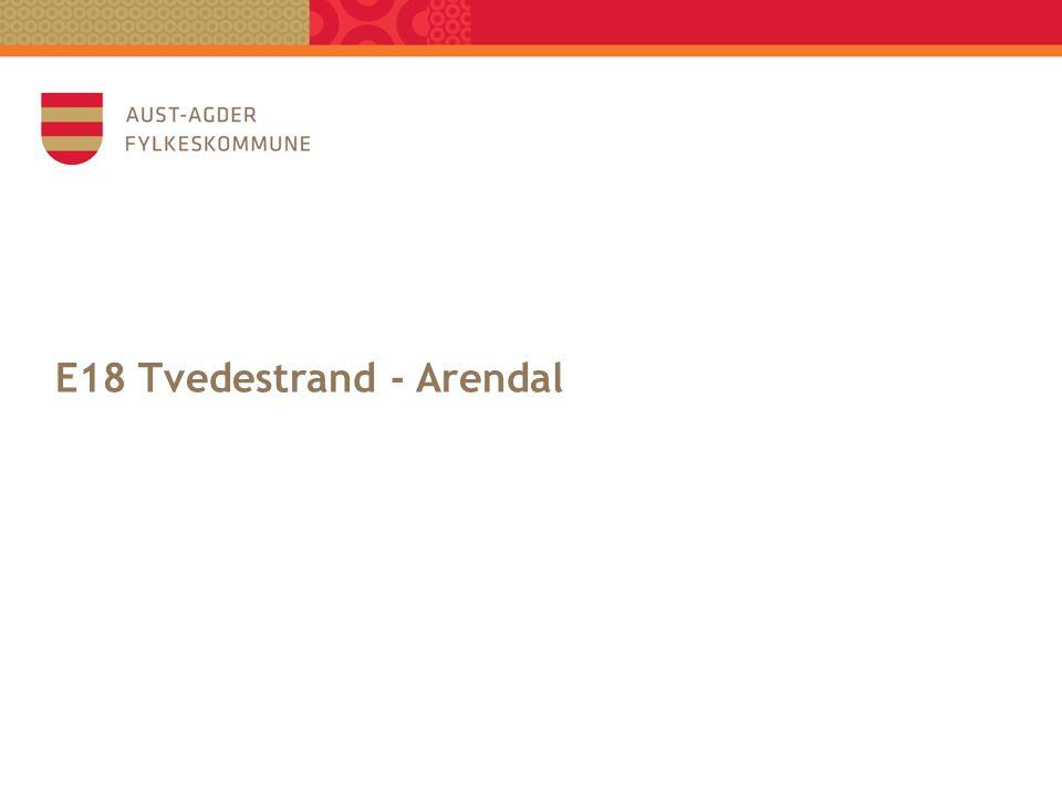 E18 Tvedestrand - Arendal