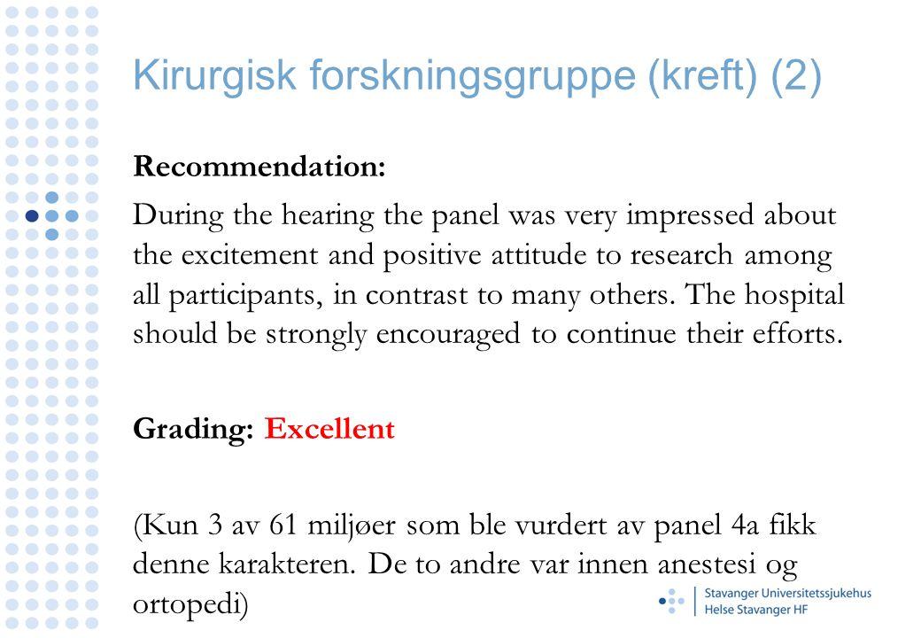 Kirurgisk forskningsgruppe (kreft) (2)