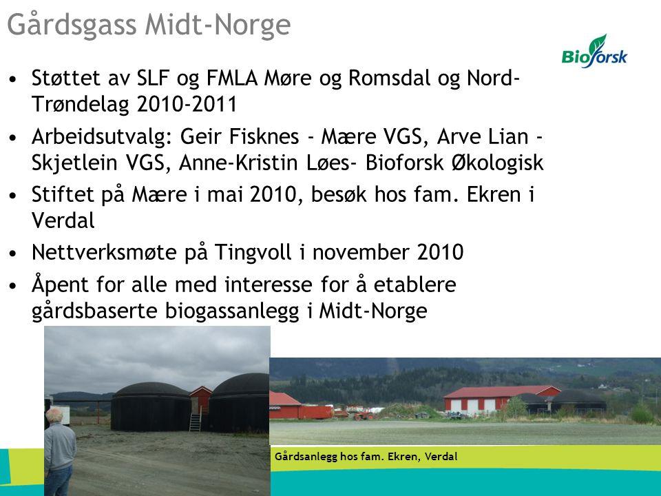 Gårdsgass Midt-Norge Støttet av SLF og FMLA Møre og Romsdal og Nord-Trøndelag 2010-2011.