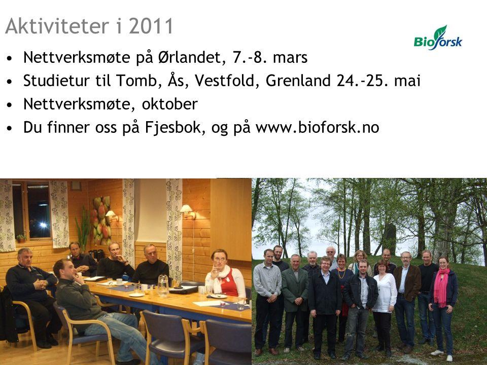 Aktiviteter i 2011 Nettverksmøte på Ørlandet, 7.-8. mars