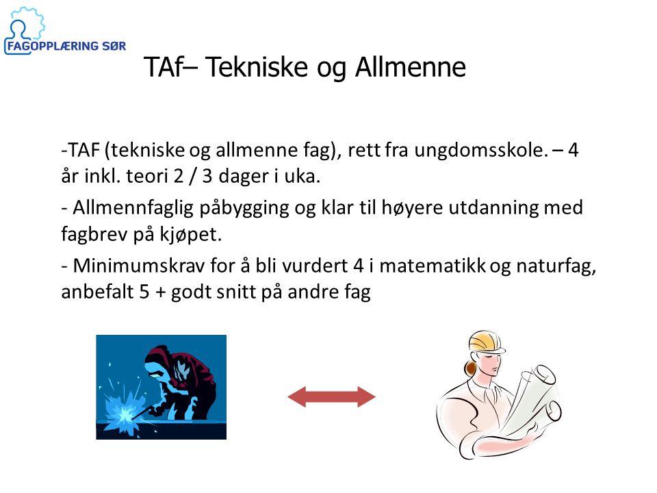 TAf– Tekniske og Allmenne Fag