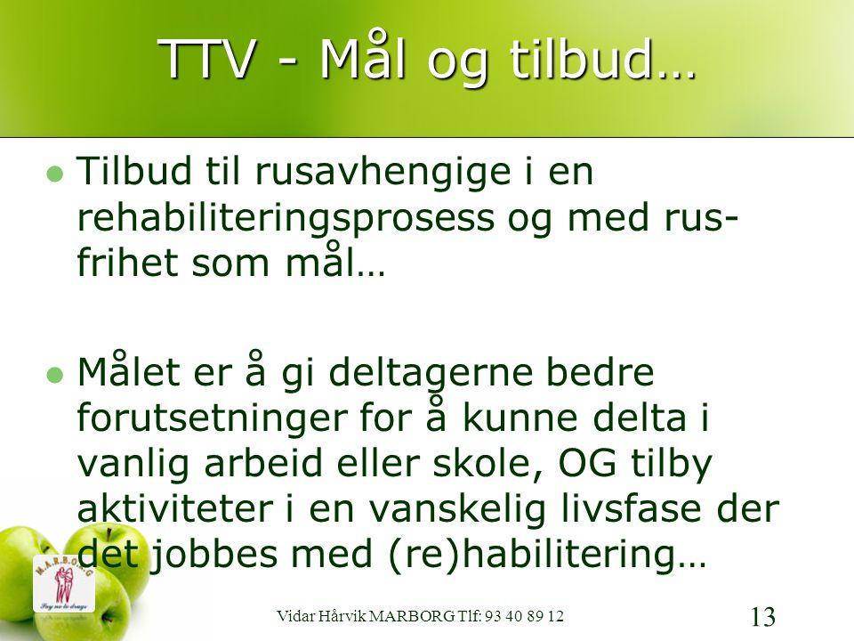 Vidar Hårvik MARBORG Tlf: 93 40 89 12