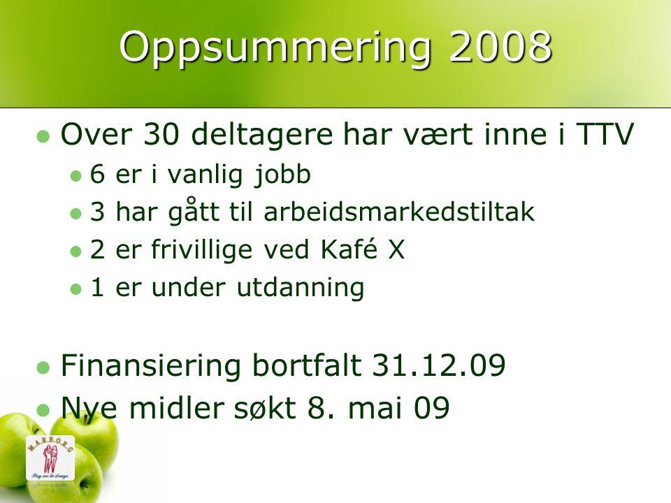 Oppsummering 2008 Over 30 deltagere har vært inne i TTV