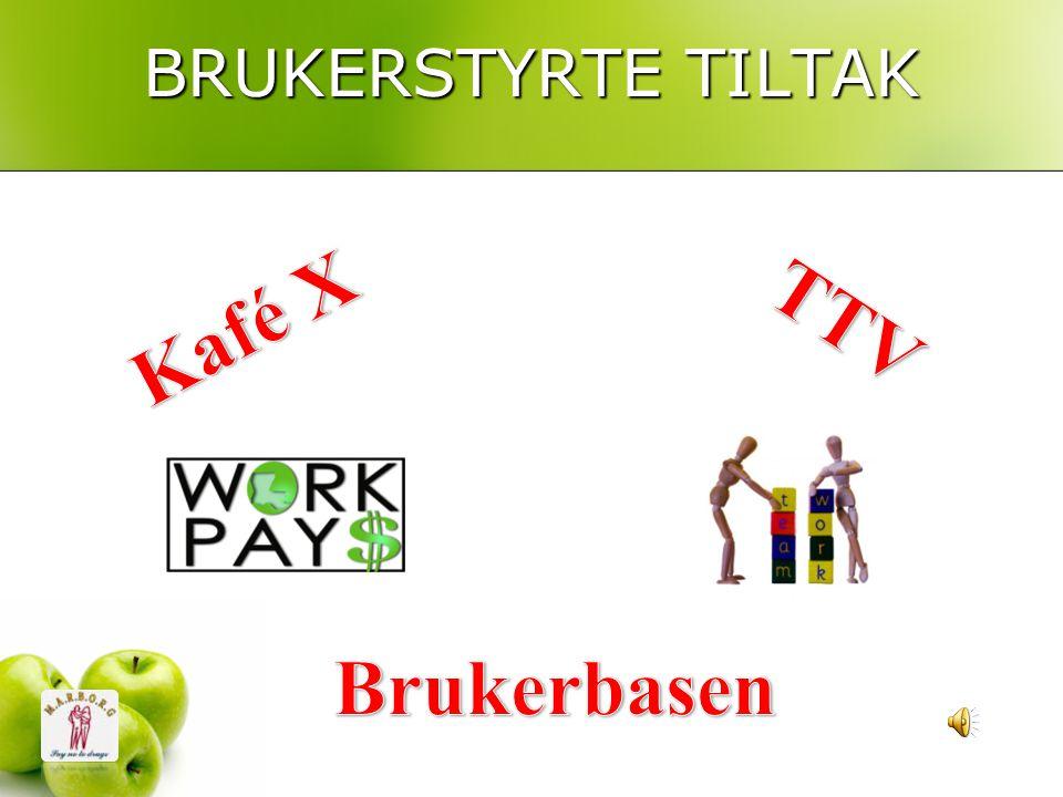 BRUKERSTYRTE TILTAK Kafé X TTV Brukerbasen