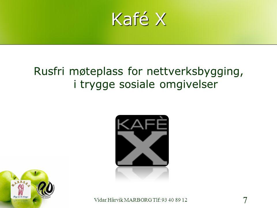 Kafé X Rusfri møteplass for nettverksbygging, i trygge sosiale omgivelser.