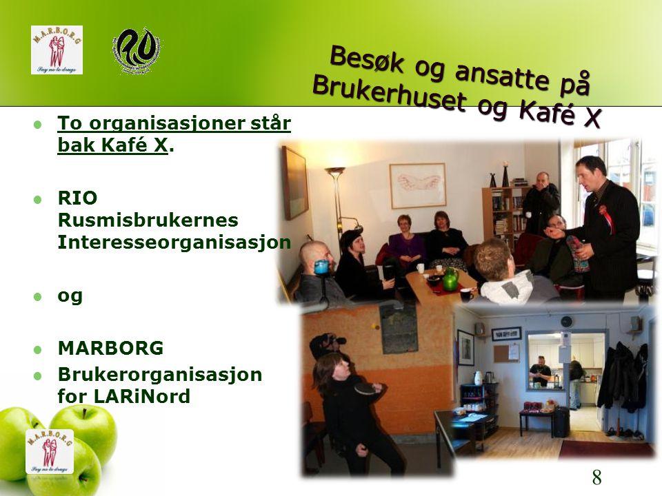 Besøk og ansatte på Brukerhuset og Kafé X