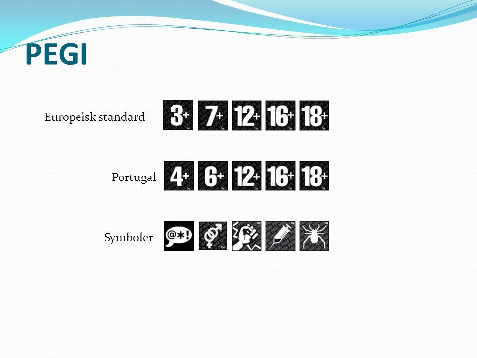 PEGI Europeisk standard Portugal Symboler
