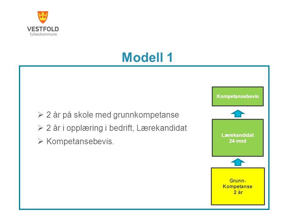 Modell 1 2 år på skole med grunnkompetanse
