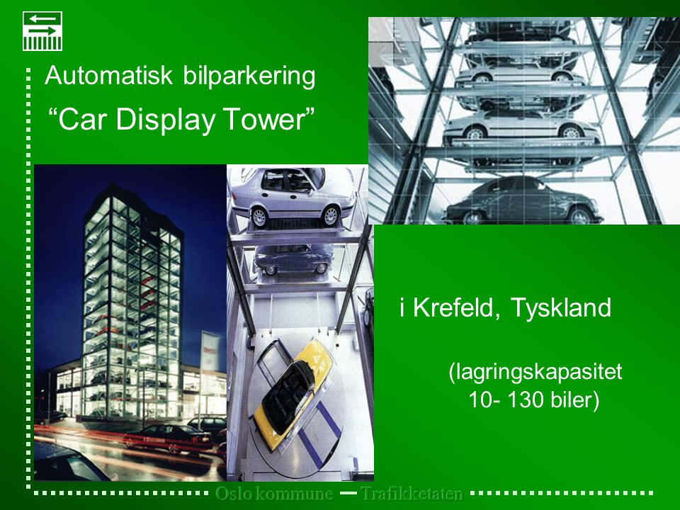 Car Display Tower Automatisk bilparkering i Krefeld, Tyskland