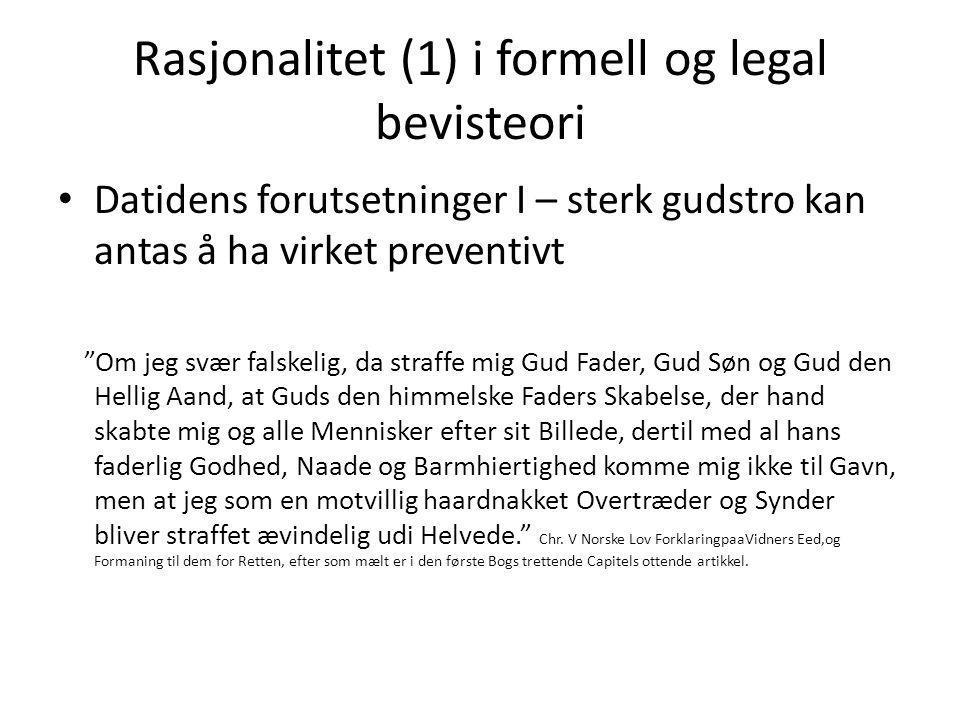 Rasjonalitet (1) i formell og legal bevisteori