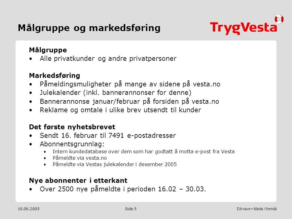 Målgruppe og markedsføring