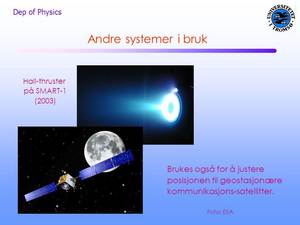 Hall-thruster på SMART-1 (2003)