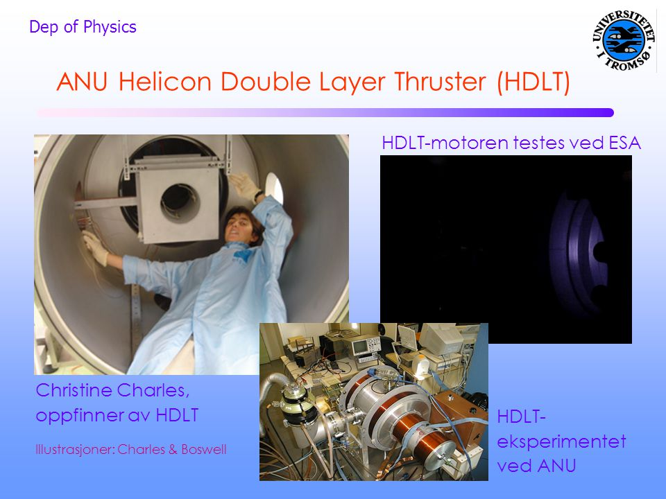 HDLT-motoren testes ved ESA