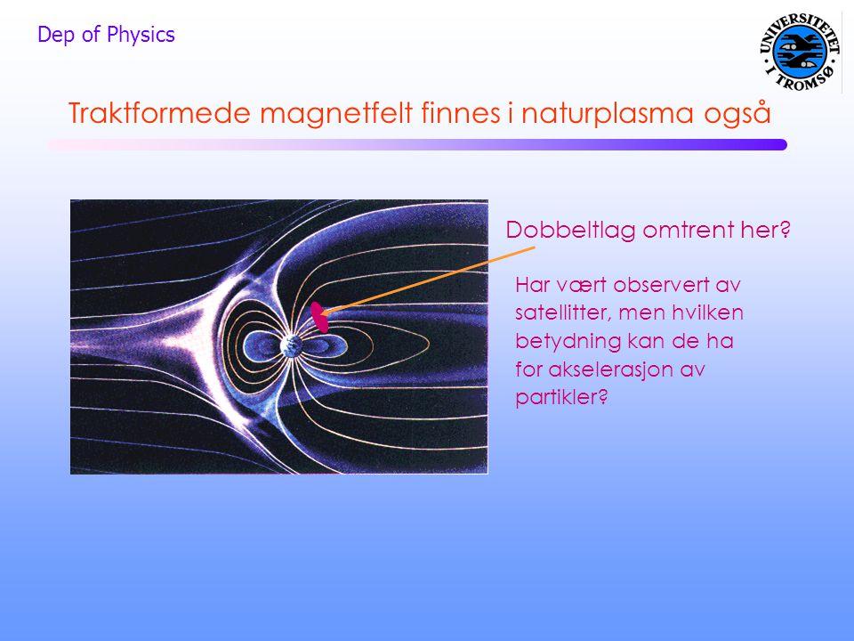 Traktformede magnetfelt finnes i naturplasma også