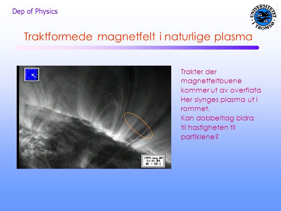 Traktformede magnetfelt i naturlige plasma