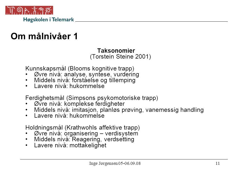 Taksonomier (Torstein Steine 2001)