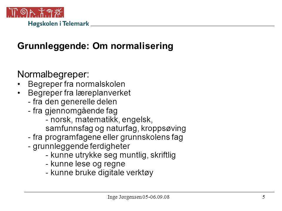 Grunnleggende: Om normalisering