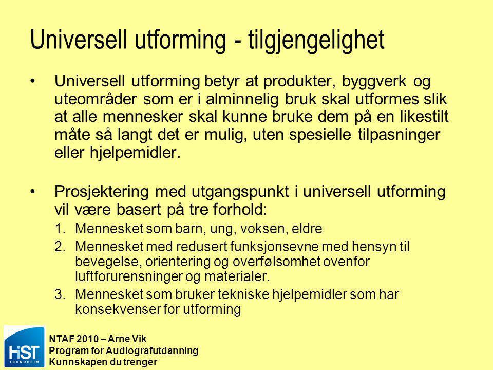 Universell utforming - tilgjengelighet