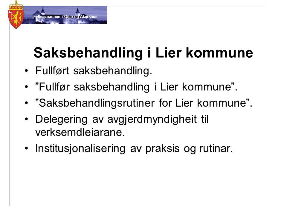 Saksbehandling i Lier kommune