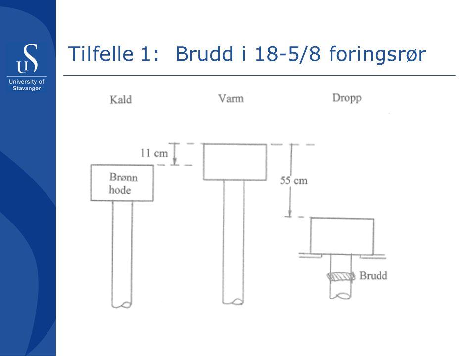 Tilfelle 1: Brudd i 18-5/8 foringsrør