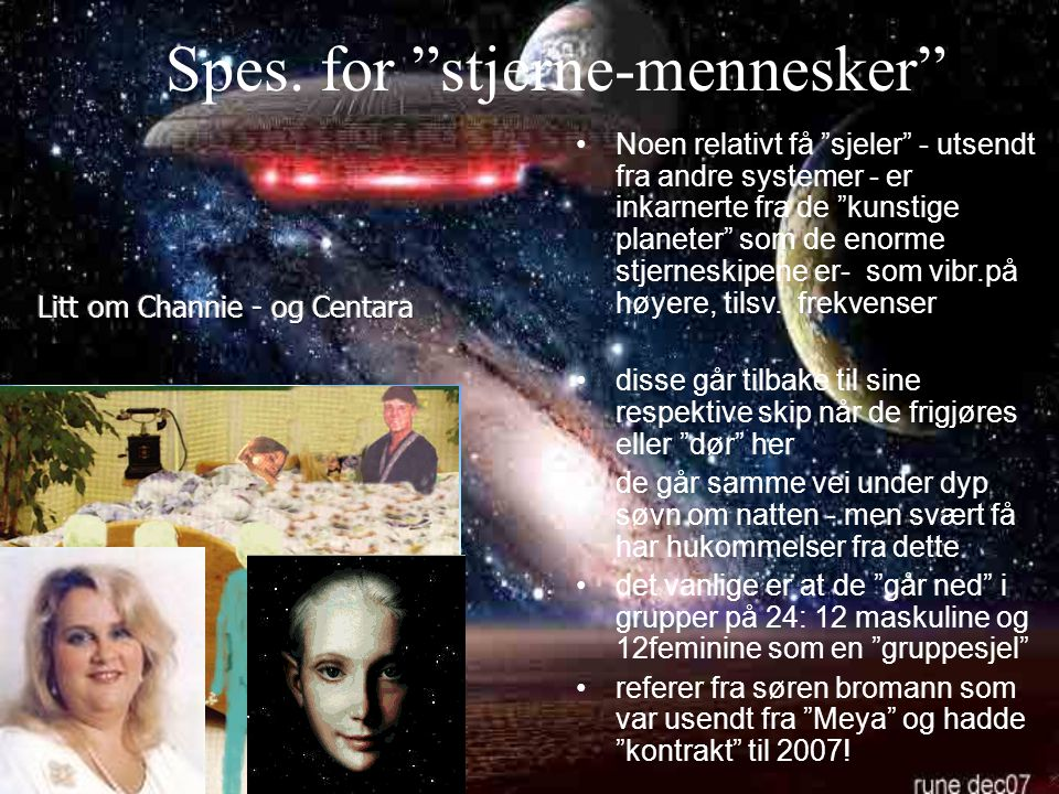Spes. for stjerne-mennesker